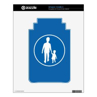 Obligatory Pedestrian Lane, Traffic Sign, Sweden Kindle Skin