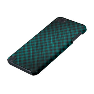 oblique checkered dark turquoise pattern iPod touch (5th generation) cases