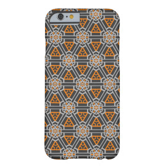 Oblique Order in Orange & Grey (Taut Waffle) Barely There iPhone 6 Case