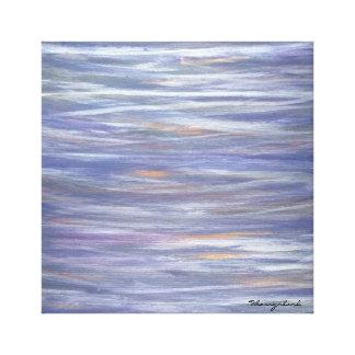 Oblivious Original Purple Silver Striped Abstract Canvas Print