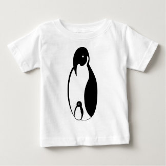 Oblong Penguin Parent and chick Baby T-Shirt