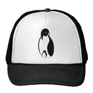 Oblong Penguin Parent and chick Trucker Hat