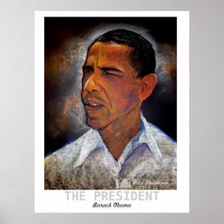 obma, EL PRESIDENTE, Barack Obama, Fred Makubuya Póster