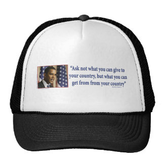 Obmana Ask what you can get from your country Trucker Hat