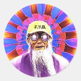 obnectarnectar F Y B Etiqueta Redonda