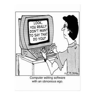 Obnoxious Computer Software Postcard