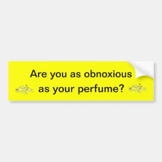 Obnoxious Perfume Bumper Sticker Car Bumper Sticker
