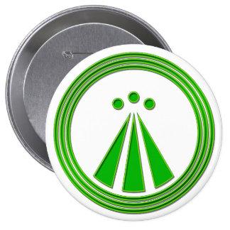OBOD Symbol Neon Green 4 Inch Round Button