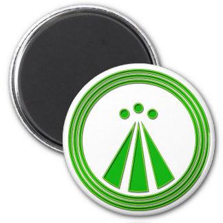 OBOD Symbol Neon Green Magnet