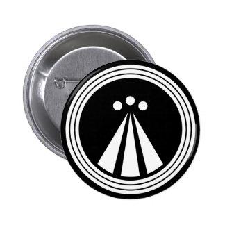 OBOD Symbol on Blk 2 Inch Round Button