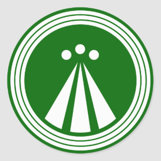 OBOD Symbol on Blk Classic Round Sticker