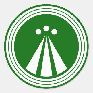 OBOD Symbol on Blk Round Sticker