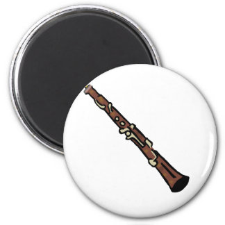 Oboe Abstract Brown Graphic Image Music Design Magnets