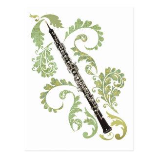 Oboe and Foliage Postcard