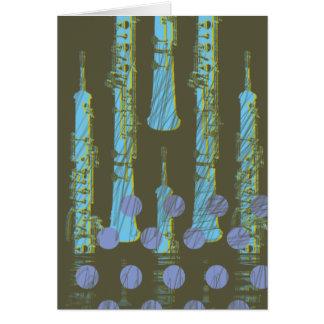 Oboe and polkadots card