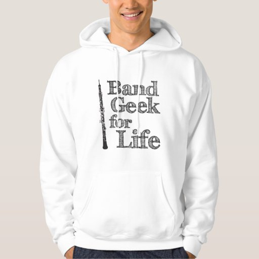 Oboe Band Geek Hooded Pullover