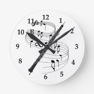 Oboe Round Wall Clocks