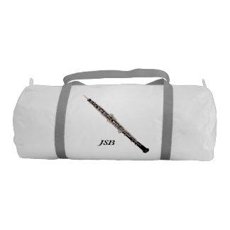 Oboe con el monograma de encargo bolsa de deporte