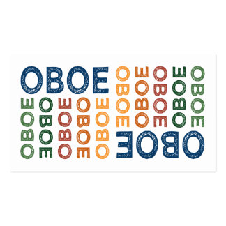 Oboe Cute Colorful Double-Sided Standard Business Cards (Pack Of 100)