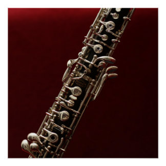 Oboe - double reed woodwind musical instrument poster