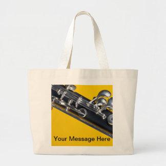Oboe en fondo amarillo bolsa tela grande