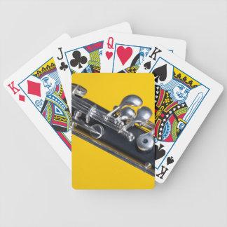Oboe en fondo amarillo cartas de juego