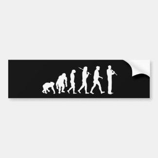 Oboe evolution bumper sticker Oboist humor gift