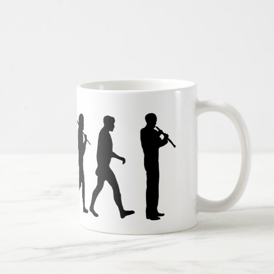 Oboe evolution funny Oboist humor gift Coffee Mug