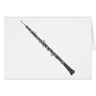 Oboe formó el texto del negro del arte de la palab felicitaciones