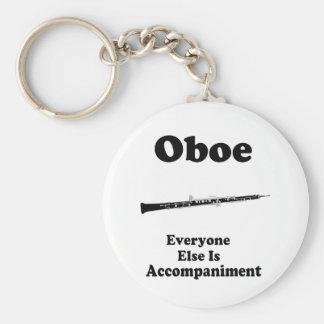 Oboe Gift Basic Round Button Keychain