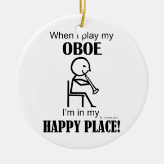 Oboe Happy Place Christmas Ornament