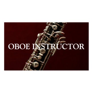 OBOE INSTRUCTOR Music Musician Teacher Double-Sided Standard Business Cards (Pack Of 100)