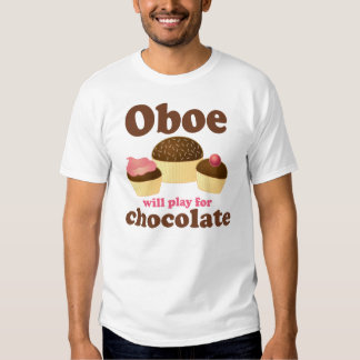 Oboe jugará para el chocolate playera