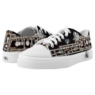 Oboe Key Mechanism Contrasting Views Low-Top Sneakers