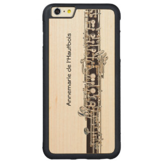 Oboe Keys, Customizable Name Carved® Maple iPhone 6 Plus Bumper