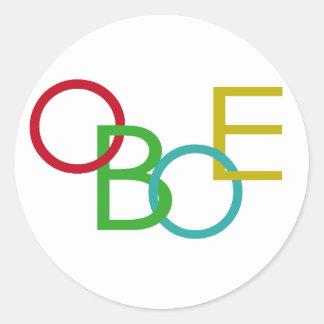 OBOE Letters Sticker