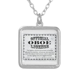 Oboe License Silver Plated Necklace