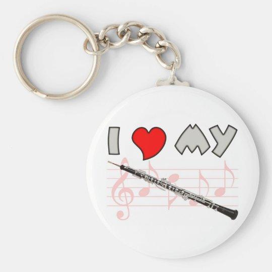 Oboe Love Keychain