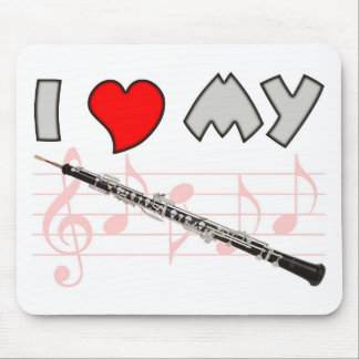 Oboe Love Mouse Pad