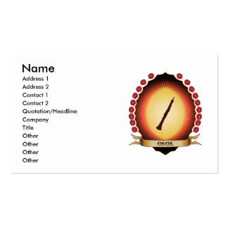 Oboe Mandorla Double-Sided Standard Business Cards (Pack Of 100)