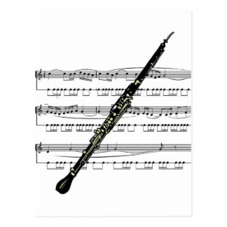 Oboe musical 01 B Postcard