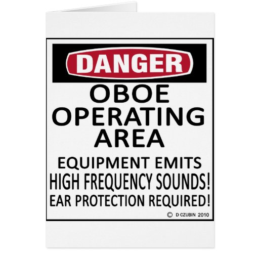 Oboe Operating Area Greeting Card
