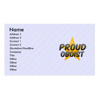 Oboe orgulloso tarjetas de visita