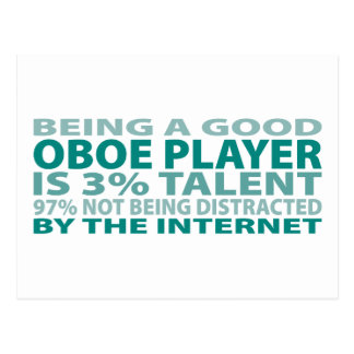 Oboe Player 3% Talent Postcard