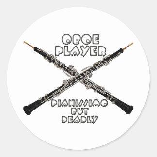 Oboe Player Classic Round Sticker