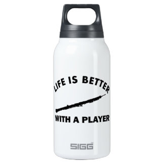 Oboe player designs insulated water bottle