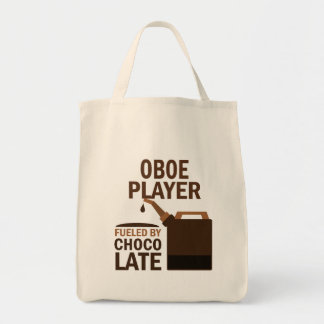 Oboe Player (Funny) Chocolate Grocery Tote Bag