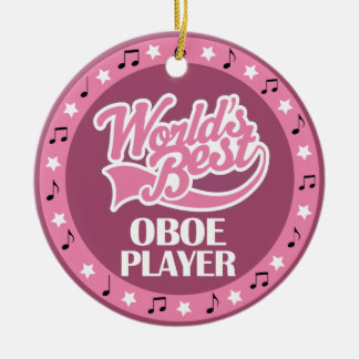 Oboe Player Gift For Her Ceramic Ornament