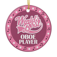 Oboe Player Gift For Her Christmas Tree Ornaments