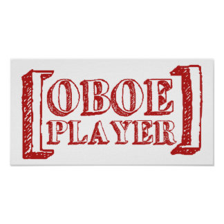 Oboe Player Poster